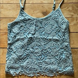Light blue lace tank